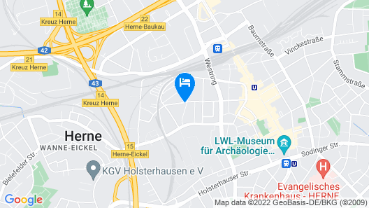 Zimmer in Herne Map