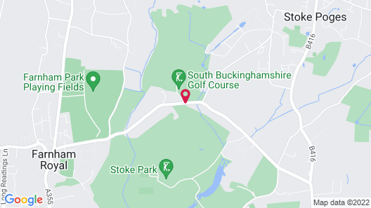 Stoke Park Country Club Spa and Hotel Map