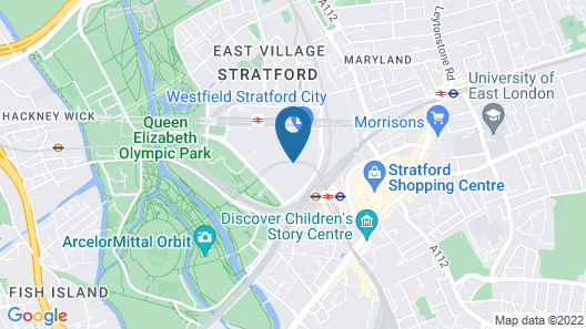 Holiday Inn London - Stratford City Map