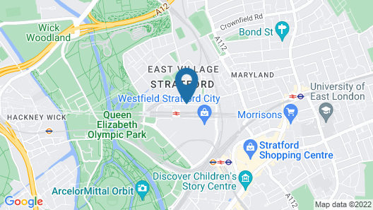 The Stratford Hotel London Map