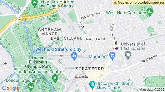 Luxury 2BR Apartment in  Stratford Westfield  Map