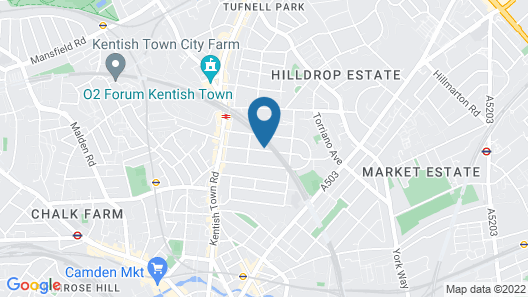 Kentish Town Apartments by Allo Housing Map