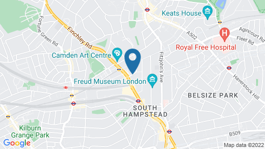 Quality Hotel Hampstead Map