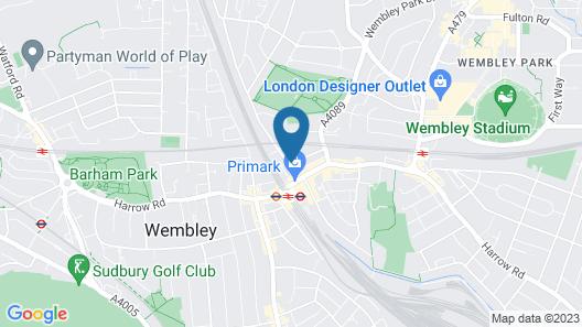 Euro Hotel London Wembley Map