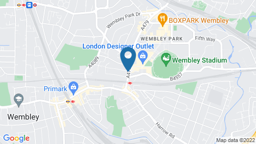 St George Hotel Wembley Map