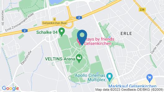 stays by friends Gelsenkirchen Map