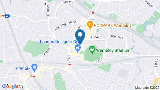Hilton London Wembley Map