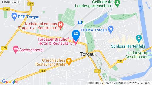Hotel Torgauer Brauhof Map