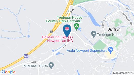 Holiday Inn Express Newport Map