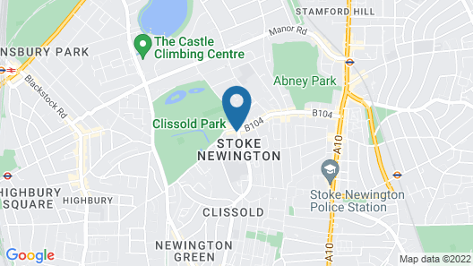 Rose and Crown Stoke Newington Map