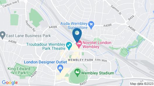 Novotel London Wembley Map