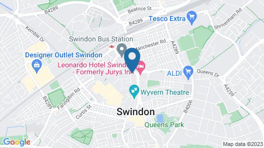 Thistle Express Swindon Map