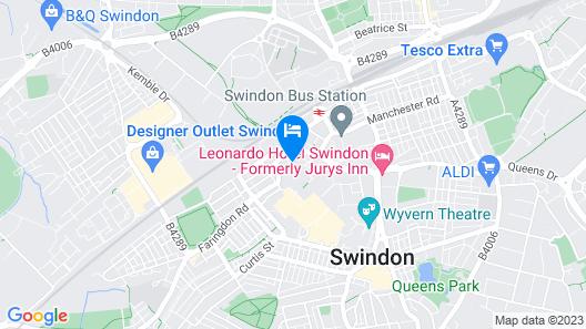 ibis budget Swindon Map