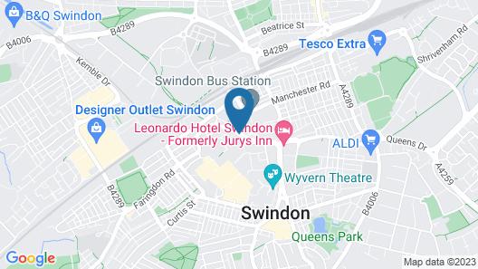 Jurys Inn Swindon Map