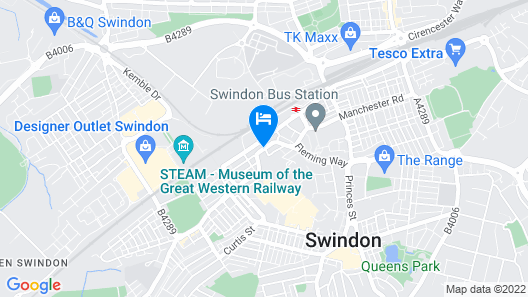 Holiday Inn Express Swindon City Centre Map