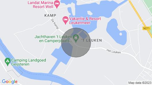 Houseboat Leukermeer in Well / NL Map