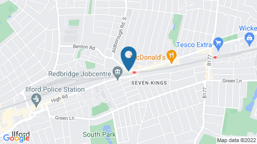 ibis Styles London Seven Kings Map