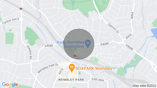 NEW Stunning 3 Bedroom House Centre Wembley Map