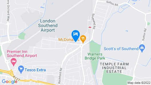 Holiday Inn Southend Map