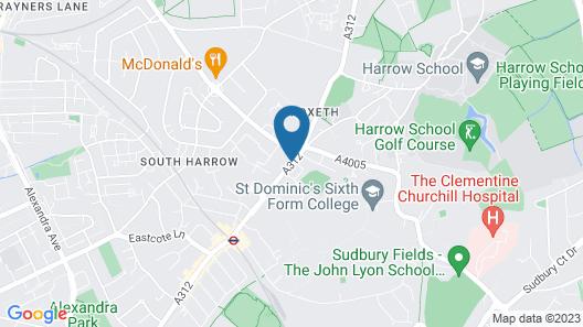 Eurotraveller Hotel-Premier @ Harrow Map