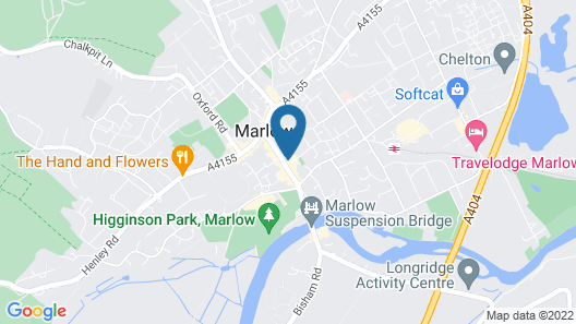 The Chequers Marlow Map