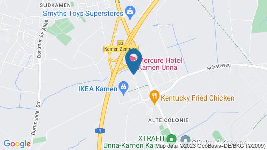 Mercure Hotel Kamen Unna Map