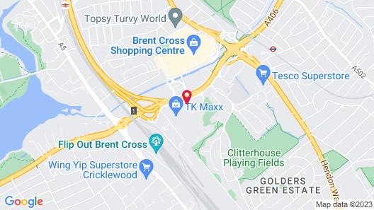 Holiday Inn London Brent Cross Map