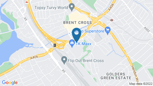 Holiday Inn London Brent Cross Map