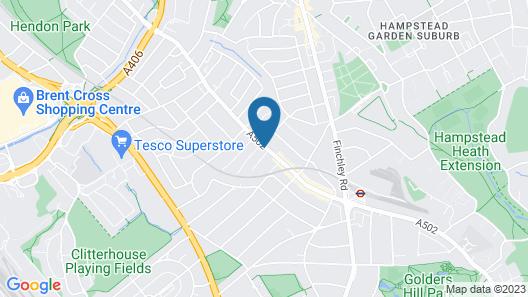 NOX HOTELS - Golders Green Map
