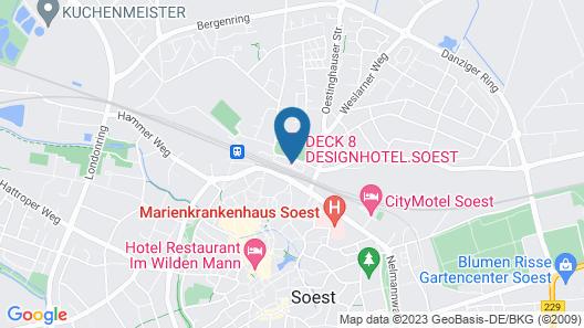 Deck 8 Designhotel.Soest Map