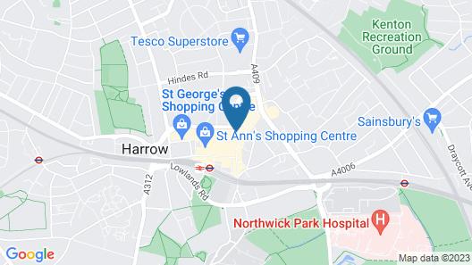 Lovely Apartment in Harrow Near Northala Fields Map