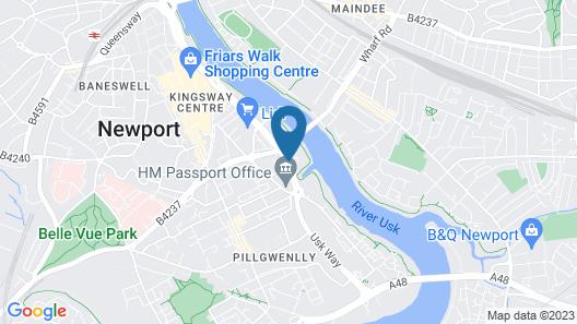 Newport Student Village (Campus Accommodation) Map