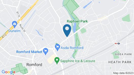 Harefield Manor Hotel Map