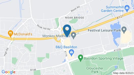 Campanile restaurant BASILDON - East of London Map