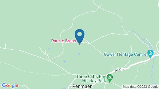 Parc Le Breos House Map