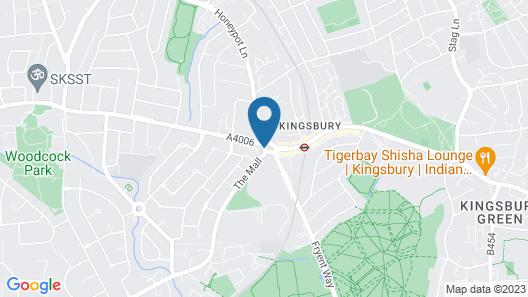 Kingsland Hotel Map