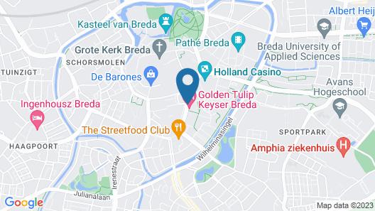Golden Tulip Keyser Breda Map