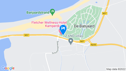 Amadore Hotel Restaurant De Kamperduinen Map