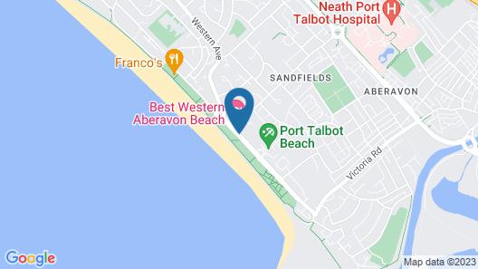 Best Western Aberavon Beach Hotel Map