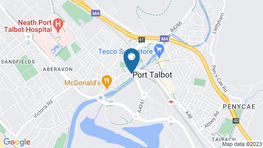 Blanco's Hotel Port Talbot Map