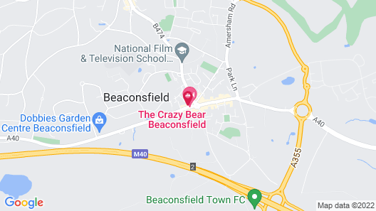 The Crazy Bear Beaconsfield Map