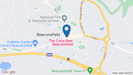 The Crazy Bear Beaconsfield Map