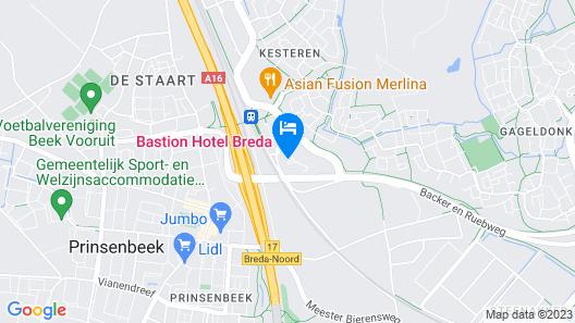 Bastion Hotel Breda Map