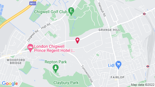 Chigwell Poolhouse Map