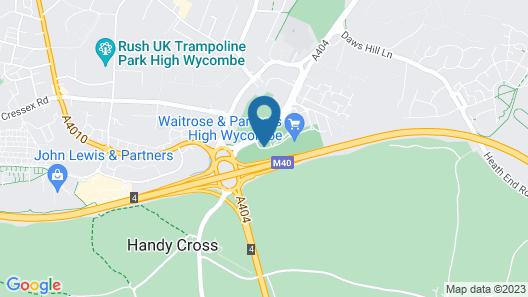 Hampton by Hilton High Wycombe Map