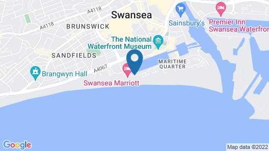 Just Stay Wales – Meridian Quay Penthouses Map