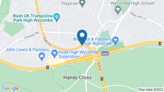 Holiday Inn High Wycombe M40, Jct. 4 Map