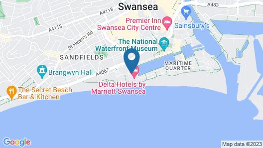 Swansea Marriott Hotel Map