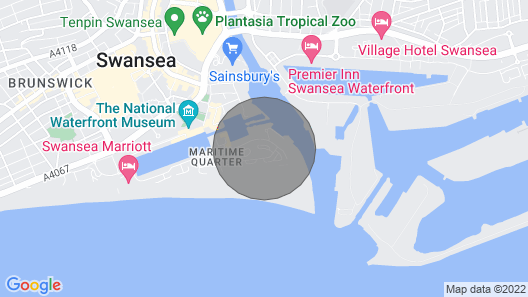1 BEDROOM APARTMENT SWANSEA MARINA Weekend Rental Map