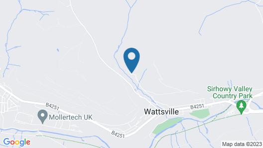 Self Catering Holiday Lodge in 6 Hektar Bewaldeten Hillside in South Wales Map